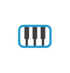 synthesizer flat icon symbol premium quality vector image vector image