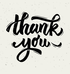 thank you hand drawn lettering phrase isolated on vector image