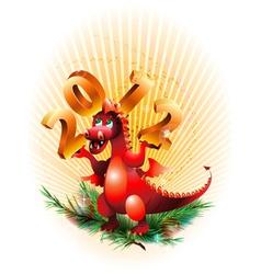 abstract dragon vector image vector image