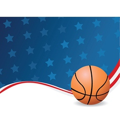 Basketball background with stars vector image vector image