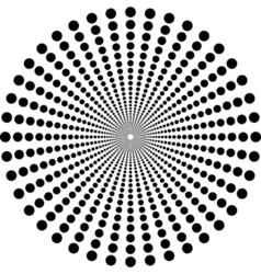 Circles in circle depth vector