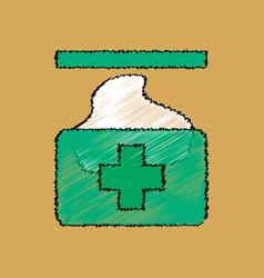 Flat shading style icon medical napkins vector