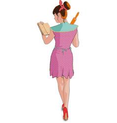 women cooking roller pin vector image vector image