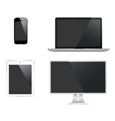 247 set of digital technology vector image