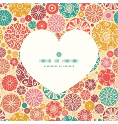 abstract decorative circles heart silhouette vector image vector image