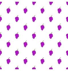 Grape branch pattern cartoon style vector image