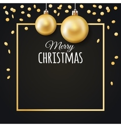 Merry Christmas background with place for text vector image vector image