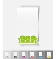 realistic design element sofa vector image