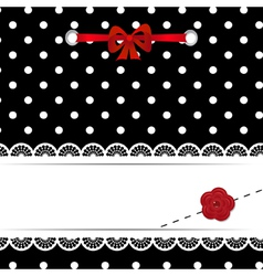 template of a greeting card vector image