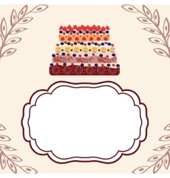Birthday greetings invitation template vector
