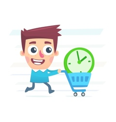 buy extra time vector image vector image