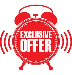 Exclusive offer red alarm clock vector image vector image