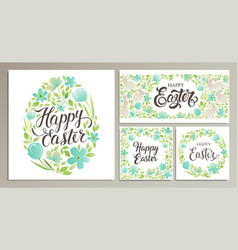 happy easter templates card poster flyer vector image vector image