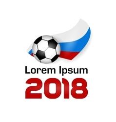 Logo football championship 2018 vector