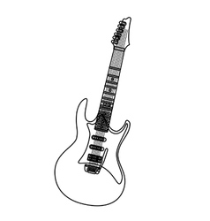 Music instrument in black and white icon vector image