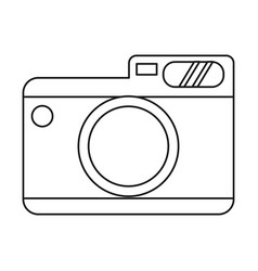 photo camera picture travel thin line vector image