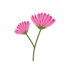 pink flower spring sketch vector image vector image