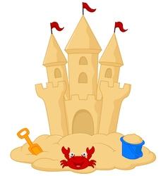Sand castle cartoon vector image