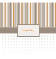Stripey Invitation Pattern vector image vector image