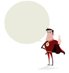 super hero speech bubble vector image vector image