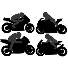Superbike Silhouette vector image vector image