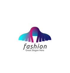 Abstract tailor suit fashion logo concept vector