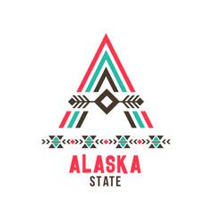 Alaska state ethnic logo vector
