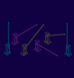 Automatic barrier outline vector