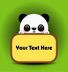 baby panda with place your text here vector image
