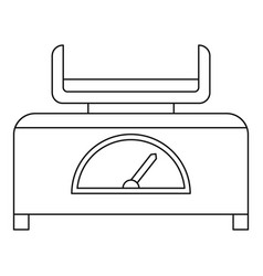 Baby scale icon outline style vector