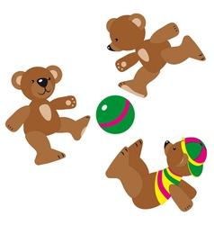 Bear cartoons vector
