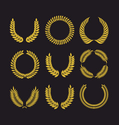 big set of wreath vector image