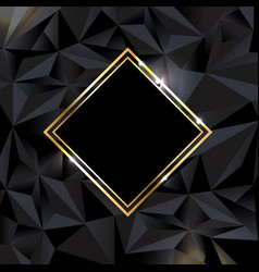 black background with golden banner vector image