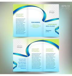 brochure ribbon element band wave line vector image