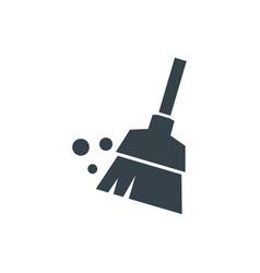 broom concept logotype template design business vector image