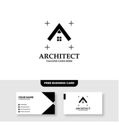 Building architecture and real estate logo design vector