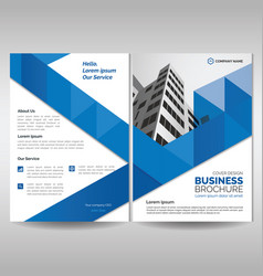 business brochure cover template with blue vector image
