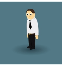 Businessman office manager tie and white shirt vector