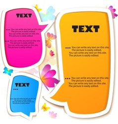butterflies speech bubbles vector image