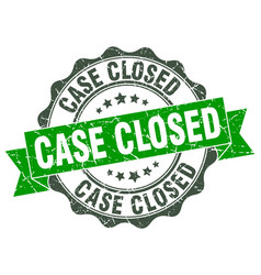 Case closed stamp sign seal vector
