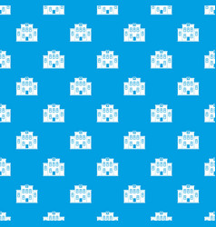 city hospital building pattern seamless blue vector image
