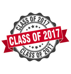 Class of 2017 stamp sign seal vector