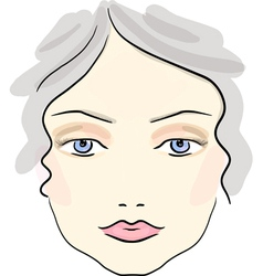Classical daily make up pattern vector image