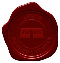 Danger temple wax seal vector