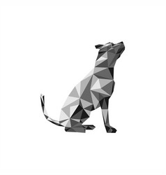 dog polygonal vector image