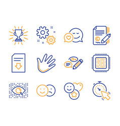 Download file copywriting and like icons set vector