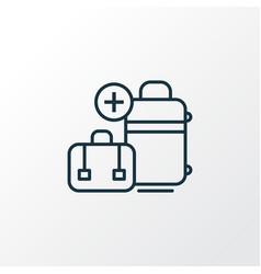 extra baggage icon line symbol premium quality vector image