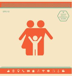 family icon symbol vector image