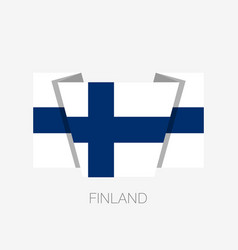 flag of finland flat icon waving flag with vector image