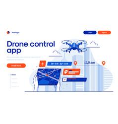 Flat modern design drone control app vector